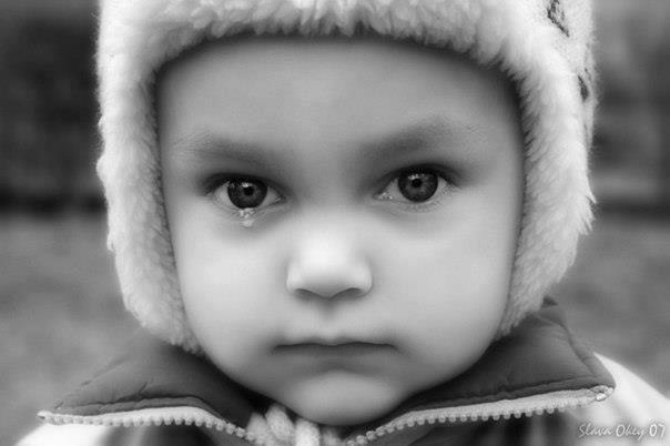 Не кричите на детей, они плачут