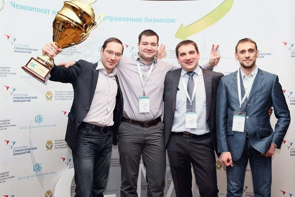 Команда ПК_Азарт, победитель Global Management Challenge Россия 2013